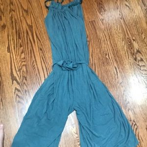 Anthropologie Blue soft jumpsuit